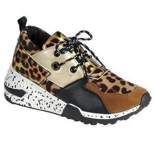 Cheetah Print Platform Wedge Sneakers